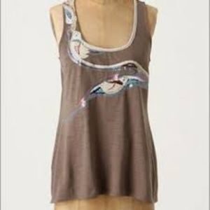 Anthropologie A Common Thread tank Swan M